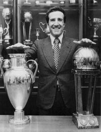 Helenio Herrera with silverware